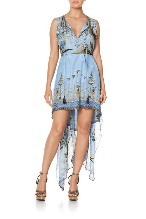 Long Sheer Overlay Dress