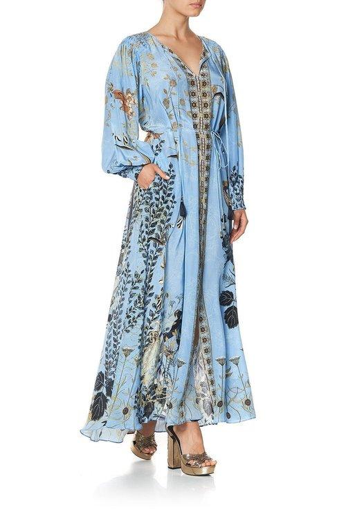 Dress w/ Smocked Sleeves