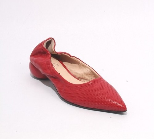 Red Leather Pointed Toe Classic Shoes