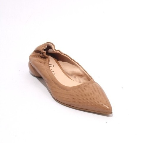Light Brown Leather Pointed Toe Classic Shoes