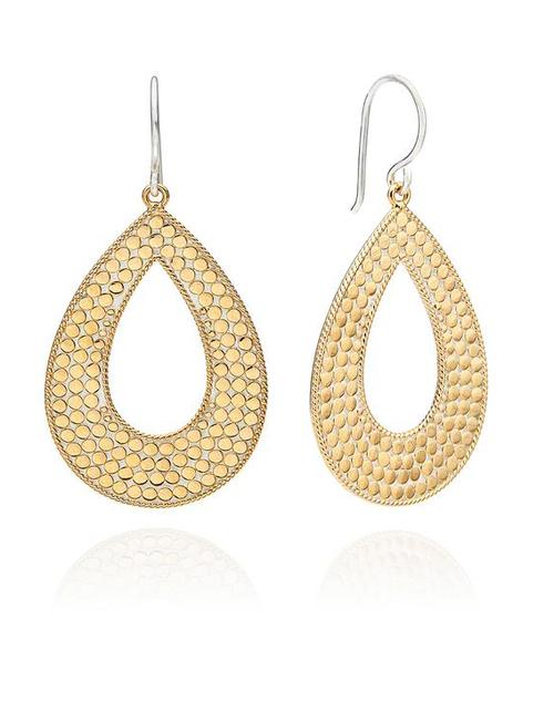 Large Open Drop Earrings - 18K Gold Plated