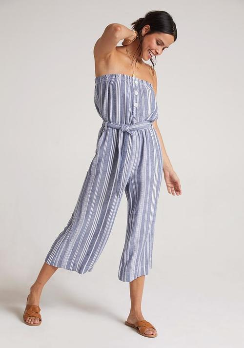 Ruffle Strapless Jumpsuit