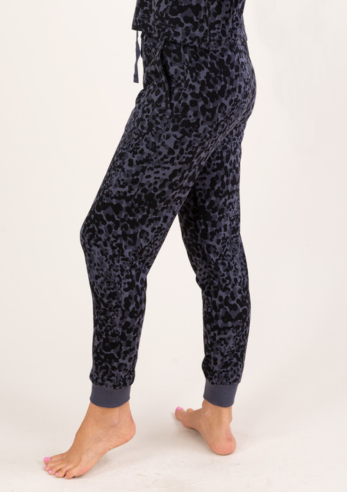 French Terry Animal Print Jogger
