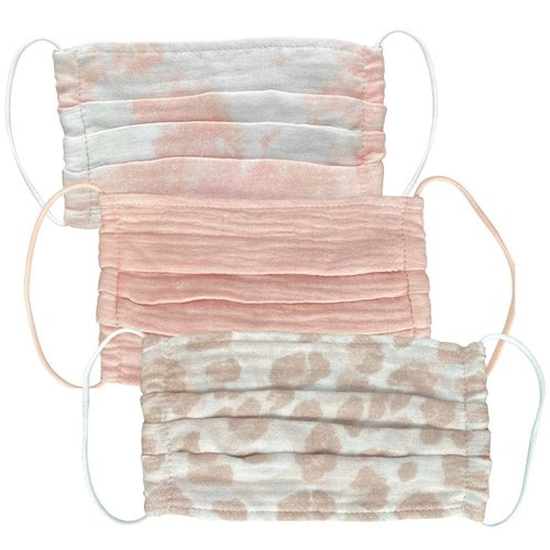 Cotton Face Mask 3 Pack Blush