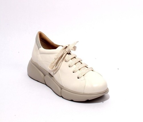 Off White Silver Leather Lace Sneakers Shoes