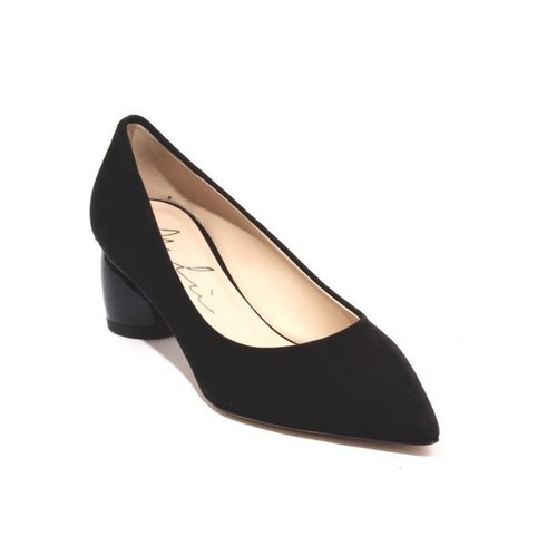 Black Suede Leather Pointed Toe Heel Classic Shoes Pumps