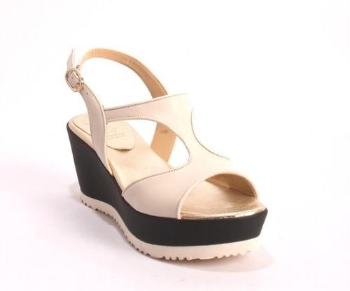 Multi Color Leather Soft Footbed Platform Sandals