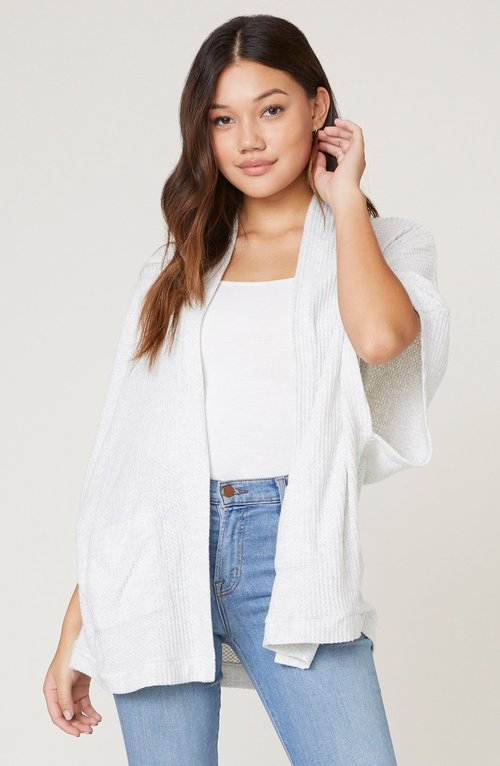 Go Lightly Brushed Waffle Cardigan