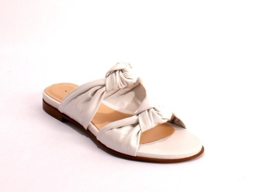 Pearl Leather Slides Sandals Flats