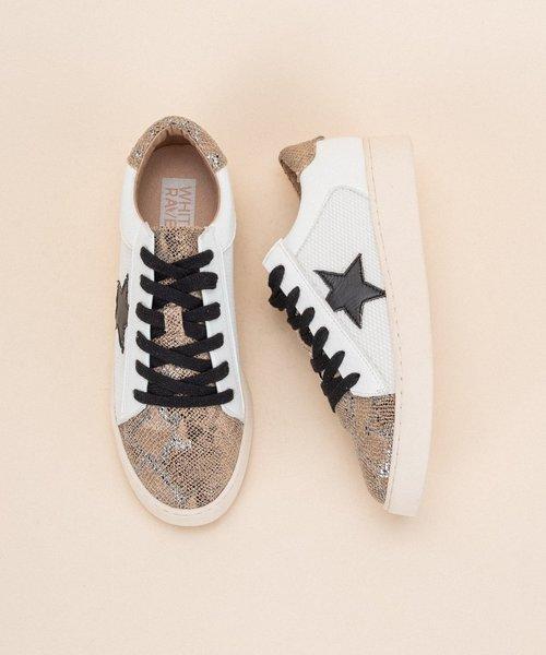Rowan White/Gold/Snake Star Sneaker