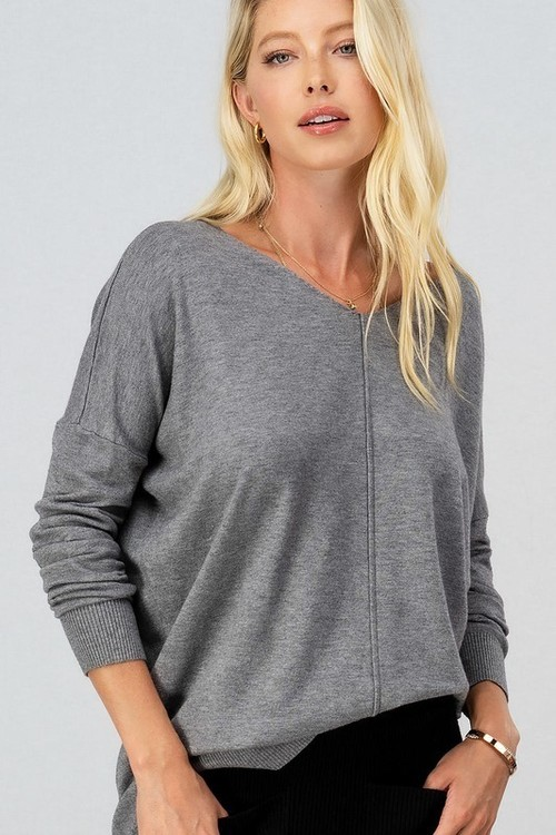 Heather Grey Favorite High Low Sweater