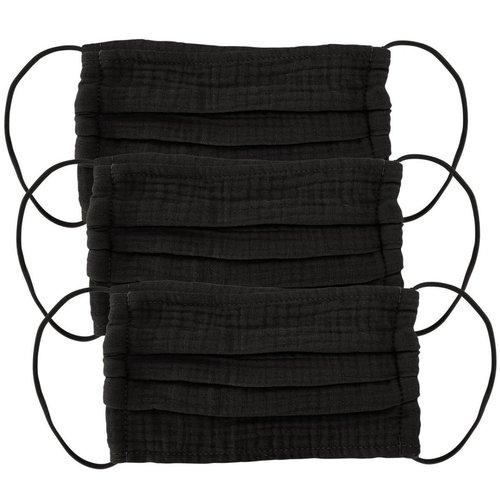Cotton Face Mask 3 Pack Black
