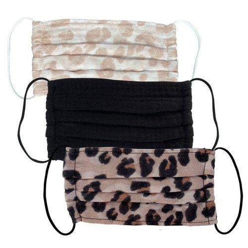 Cotton Face Mask 3 Pack Leopard