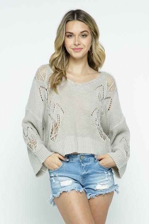 Light Weight V Boatneck Sweater
