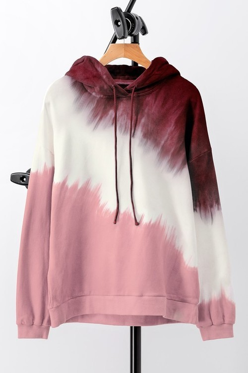 French Terry Tie Dye Hoodie