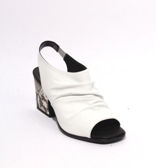 Multicolor Leather Slingbacks Open Toe Heel Sandals