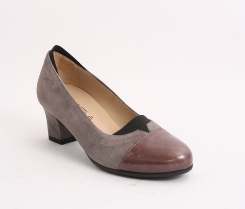 Multi-Color Suede / Patent Leather Pumps