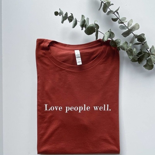 Love People Well Short Sleeve Tee Burnt Orange