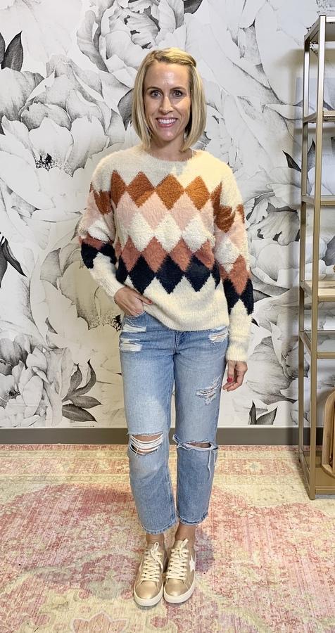 Niya Mixed Yarn Detail Sweater