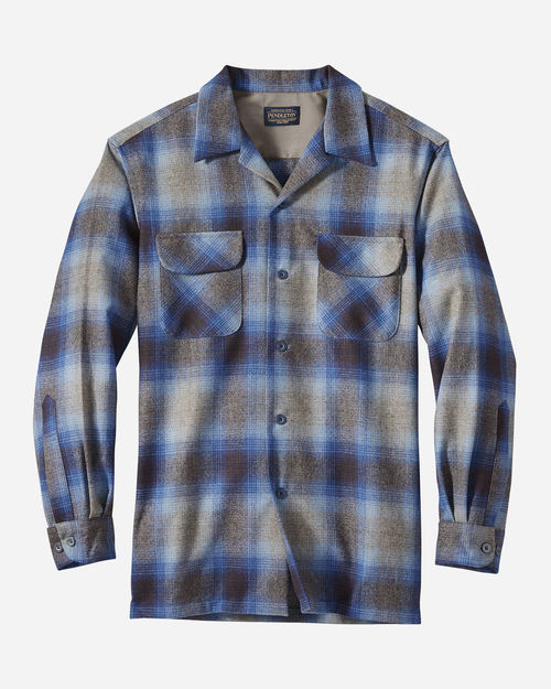 Pendleton Boardshirt Grey Navy Brn