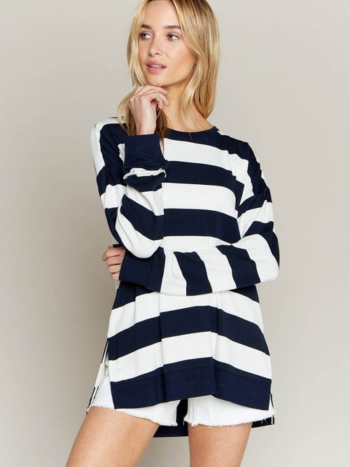 Varsity Stripe Pullover