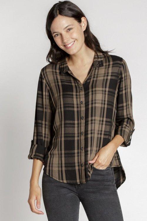 Olive Fritz Plaid Shirt