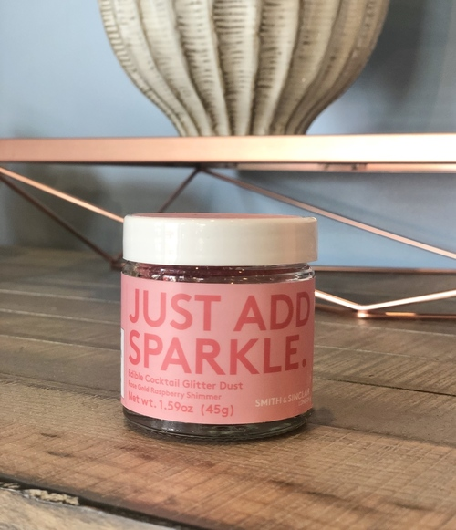 Just Add Sparkle Raspberry Rose Gold Jar