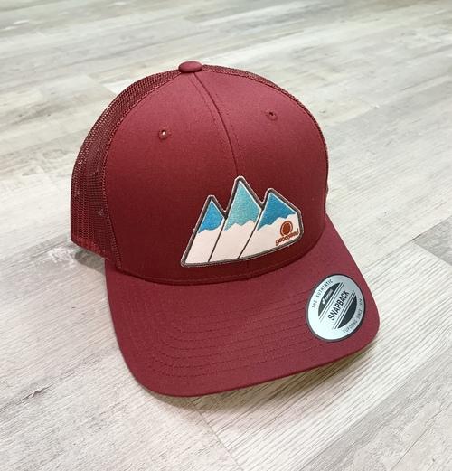 Tri Peaks Maroon Trucker Hat