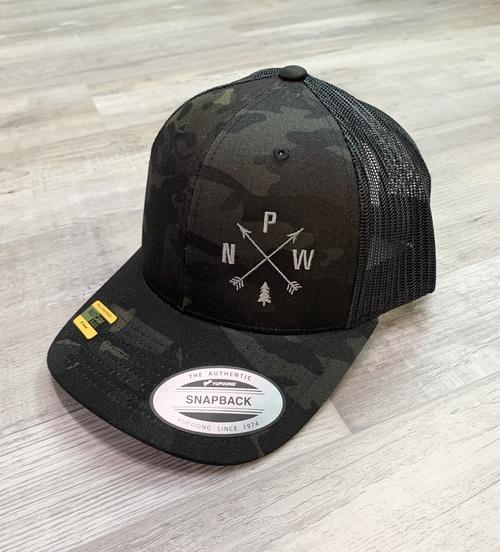 PNW Arrows Camo Trucker Hat