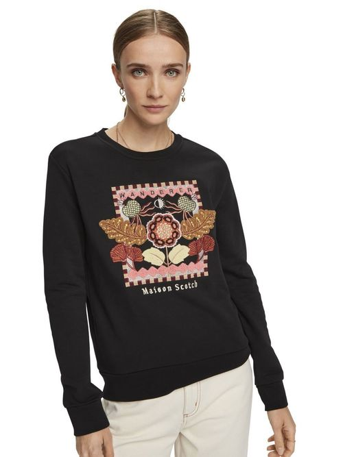 Maison Scotch Embroidered Crew Neck