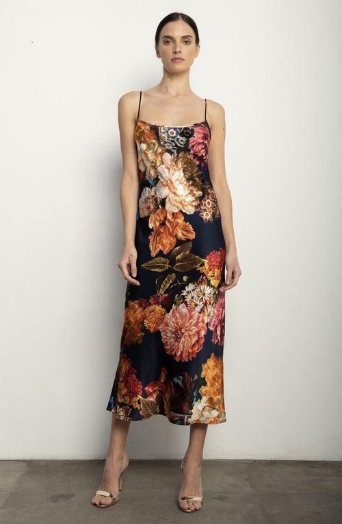 Silk Bouquet Slip Dress