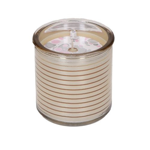 Mirrored Gold Stripe Sweet Grace Candle