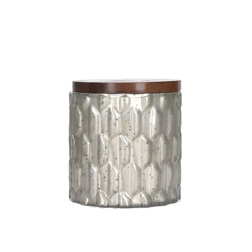 Silver Mercury Textured Candle w/ Cork Lid