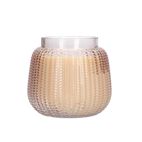 Pink Glass Textured Large Sweet Grace Candle