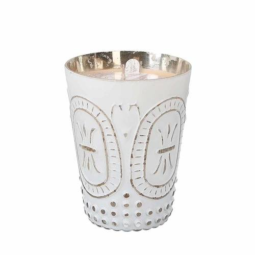 White Patterned Sweet Grace Candle