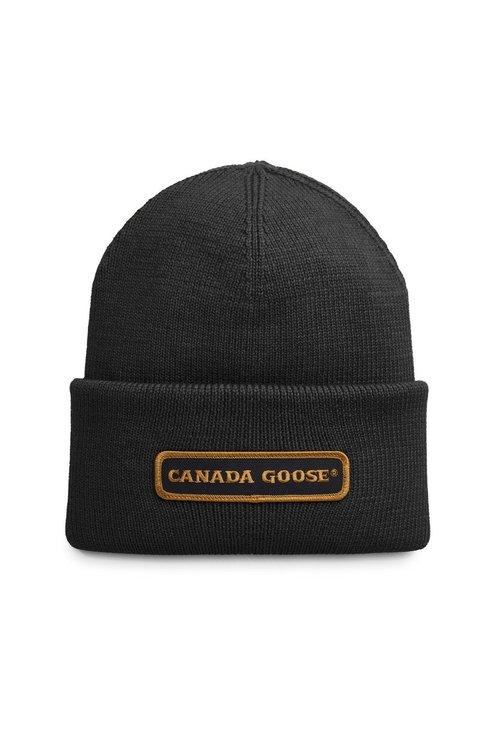 Canada Goose Emblem Rib Toque Black
