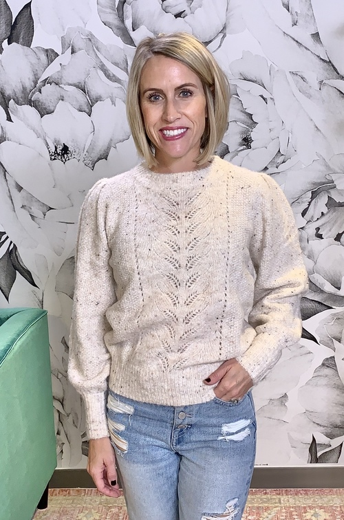 Norene Crochet Center Sweater