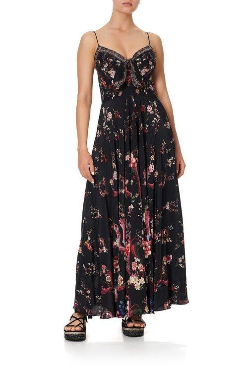Long Dress W/ Tie Front