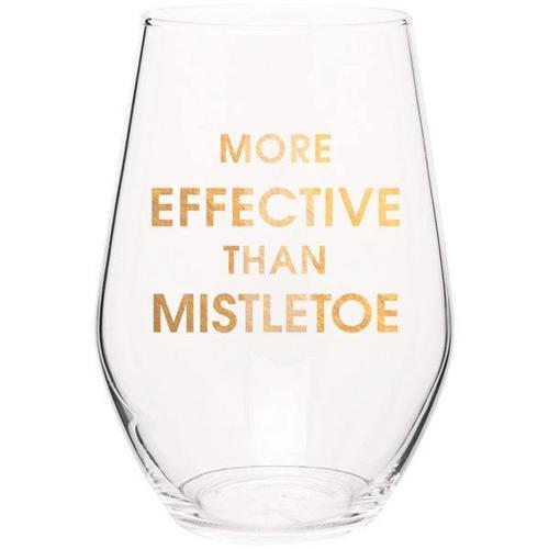 More Effective Than Mistletoe Wine Glass