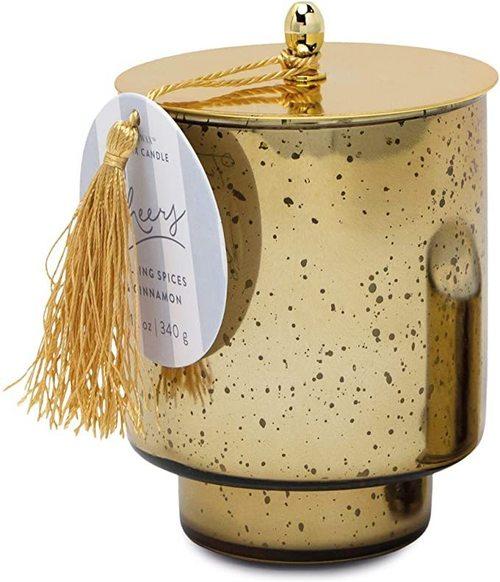 Tinsel 12 oz. Gold Mercury Glass Cheers