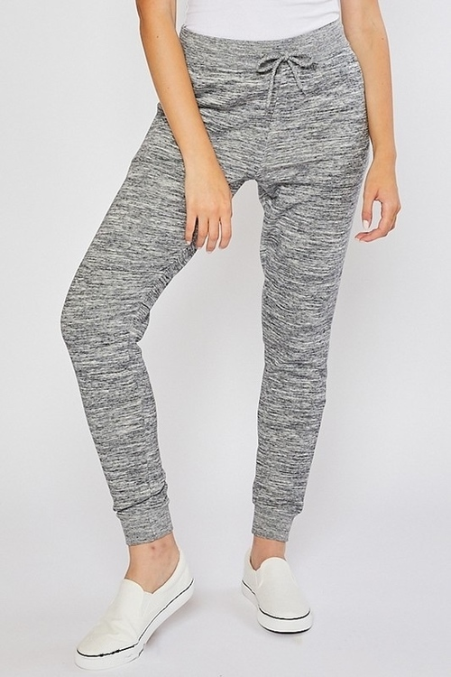 Oversized Relaxed Jogger Pant Marled Charcoal