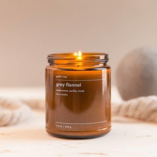Grey Flannel 7.5 oz. Soy Candle