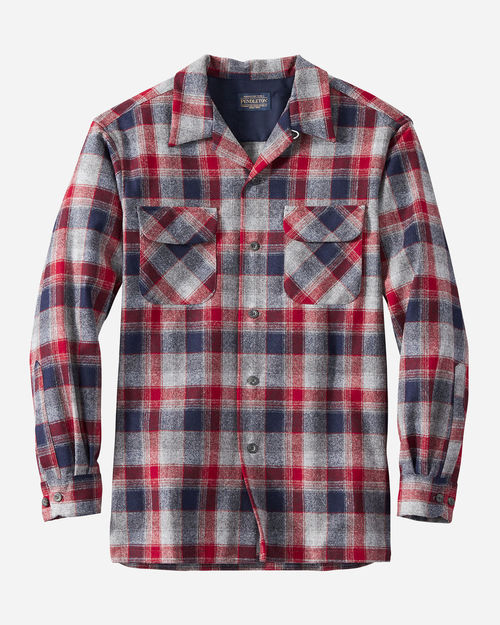 Pendleton Boardshirt Red/Grey/Navy Plaid