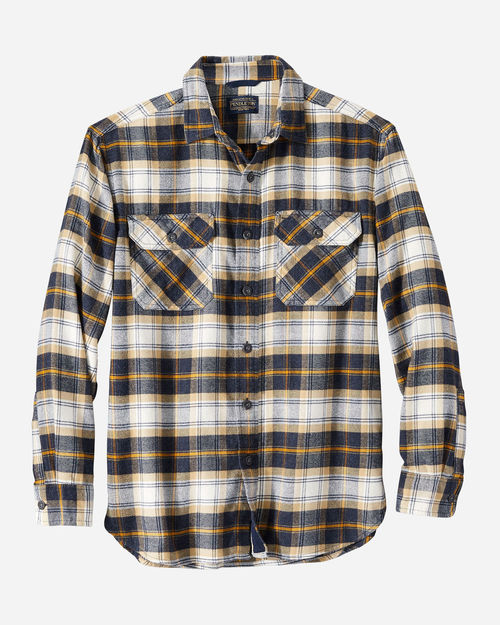 Pendleton Burnside Flannel Drk Navy/Tan