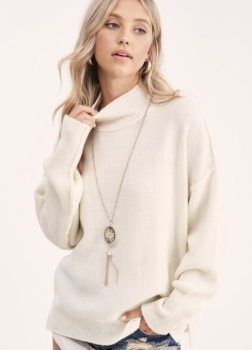 Boxy Dolman Sleeve Sweater Ivory