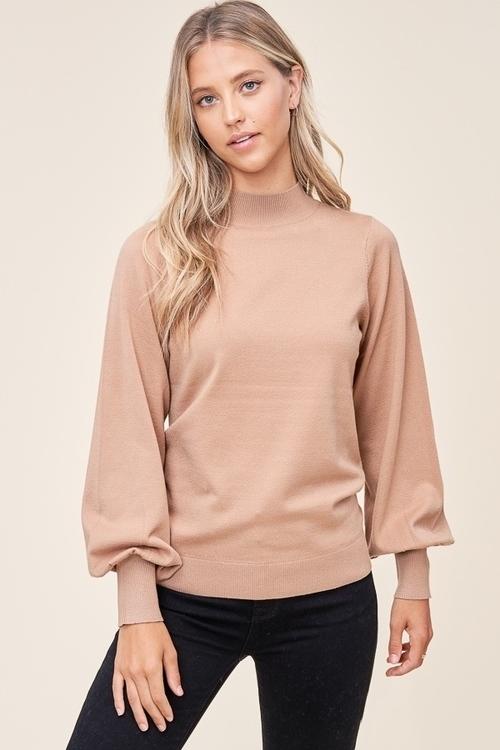 Mock Neck Long Sleeve Pullover