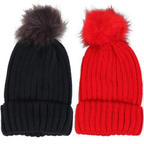 Pom Knit Winter Hat