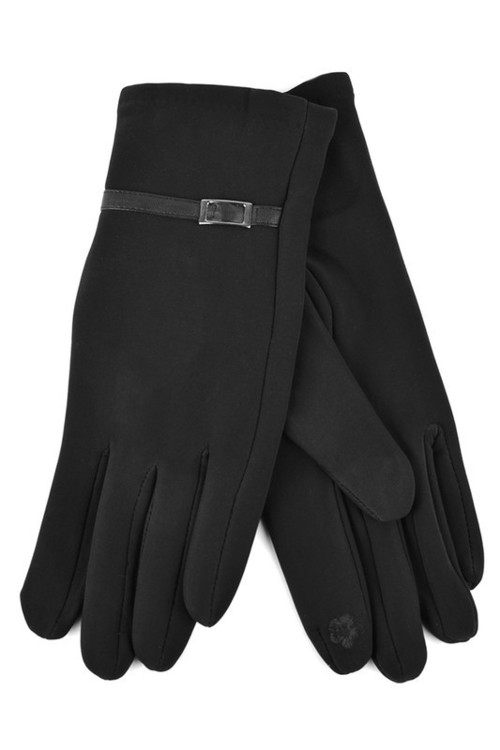 Silver Buckle Touch Screen Gloves