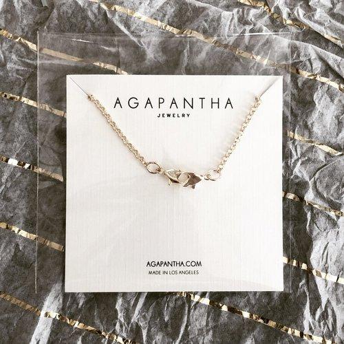 """Agapantha 24"""" Silver Mask Chain"""