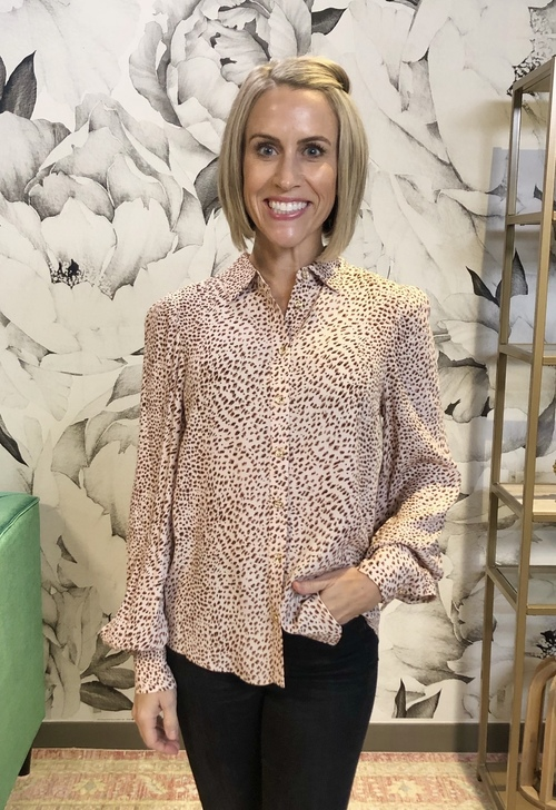 Caolyne Animal Print Blouse